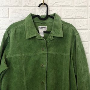 Bagatelle lime green suede leather jacket
